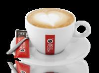 Cappuccino kop & schotel